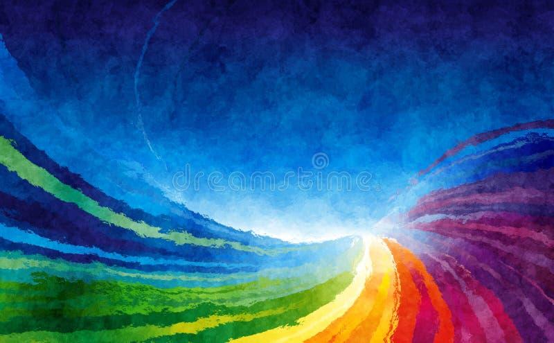 Fondo colorido del arco iris ilustración del vector
