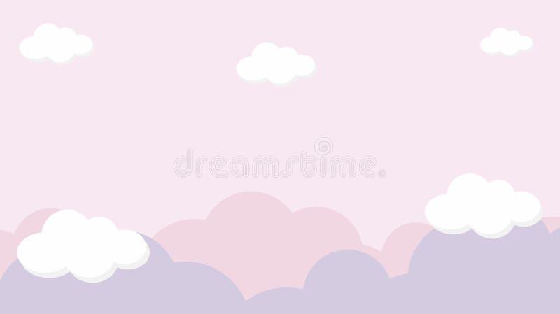 Fondo colorido del arco iris del cielo del kawaii del extracto Gráfico cómico en colores pastel de la pendiente suave Concepto pa imágenes de archivo libres de regalías
