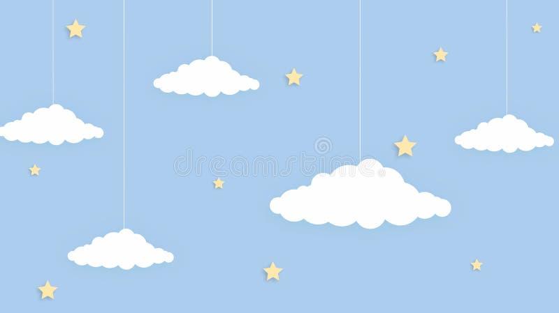 Fondo colorido del arco iris del cielo del kawaii del extracto Gráfico cómico en colores pastel de la pendiente suave Concepto pa foto de archivo