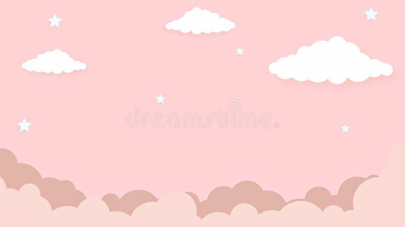 Fondo colorido del arco iris del cielo del kawaii del extracto Gráfico cómico en colores pastel de la pendiente suave Concepto pa imagen de archivo
