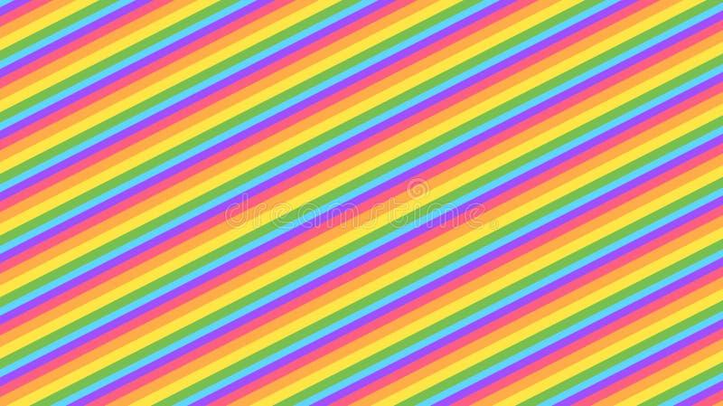 Fondo colorido del arco iris del marco del kawaii del extracto Gráfico cómico en colores pastel de la pendiente suave Concepto pa libre illustration