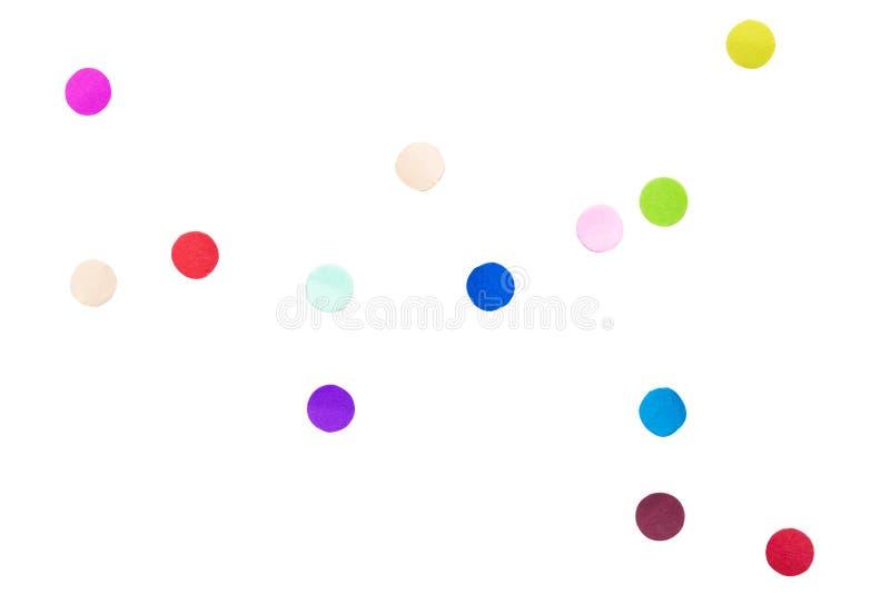 Fondo colorido del blanco del aislante del confeti libre illustration