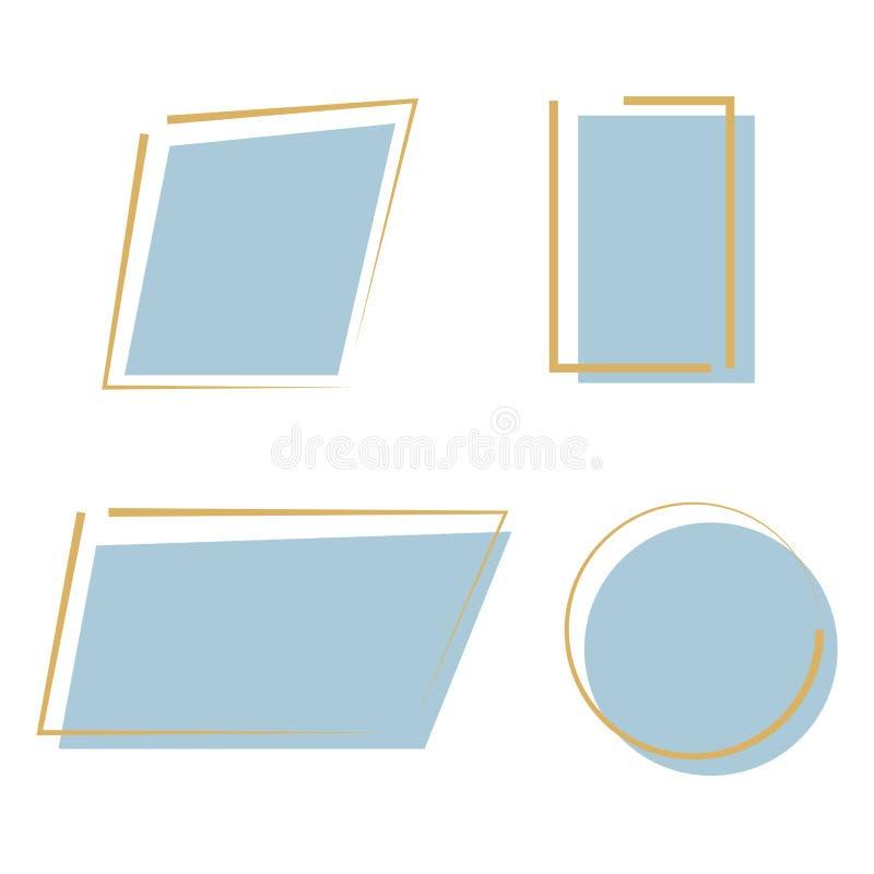 Fondo colorido del diseño del marco abstracto Concepto geométrico del vector del contexto moderno Línea decorativa isolat del art ilustración del vector