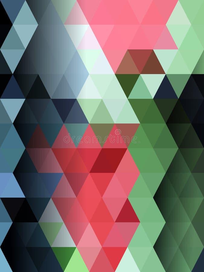 Fondo colorido del extracto del triángulo ilustración del vector