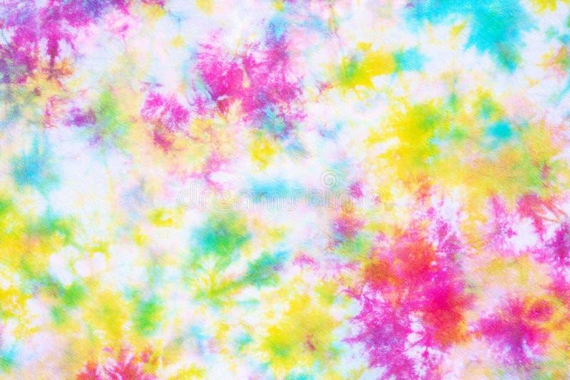 Fondo colorido del extracto del modelo del teñido anudado imagenes de archivo