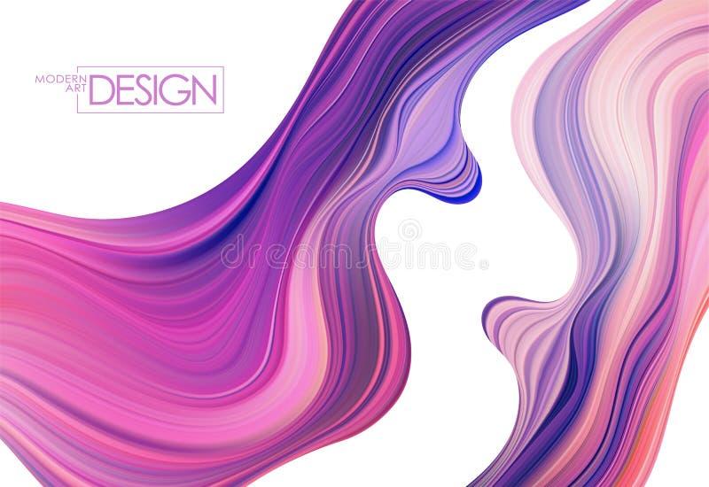 Fondo colorido del flujo del vector Forma del l?quido de la onda libre illustration