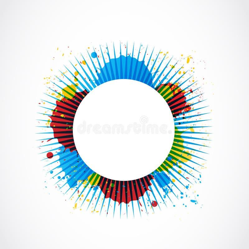 Fondo colorido del grunge de los rayos libre illustration