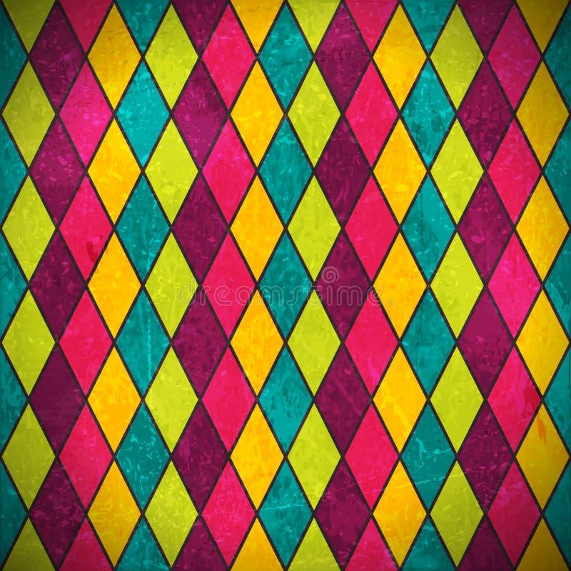 Fondo colorido del grunge del Rhombus stock de ilustración