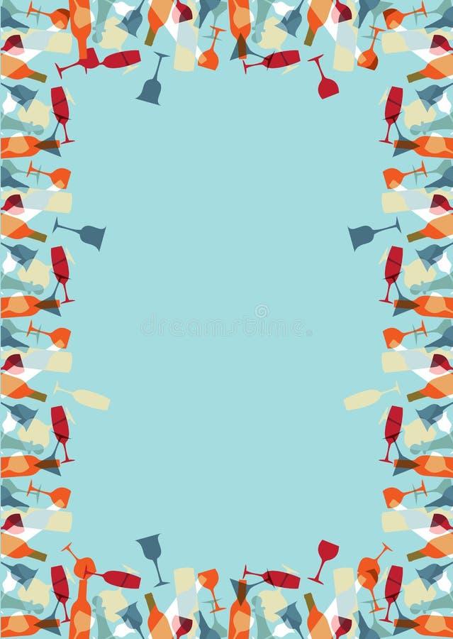 Fondo colorido del menú del diseño del cocktaill stock de ilustración