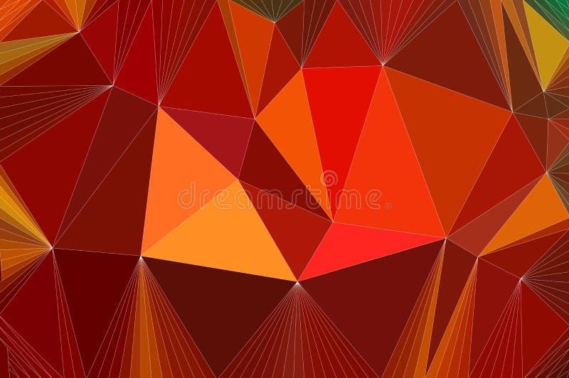 Fondo colorido del modelo del mosaico poligonal abstracto inconsútil del triángulo stock de ilustración