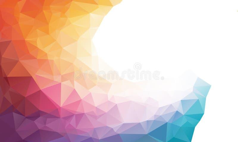 Fondo colorido del polígono del arco iris o ilustración del vector