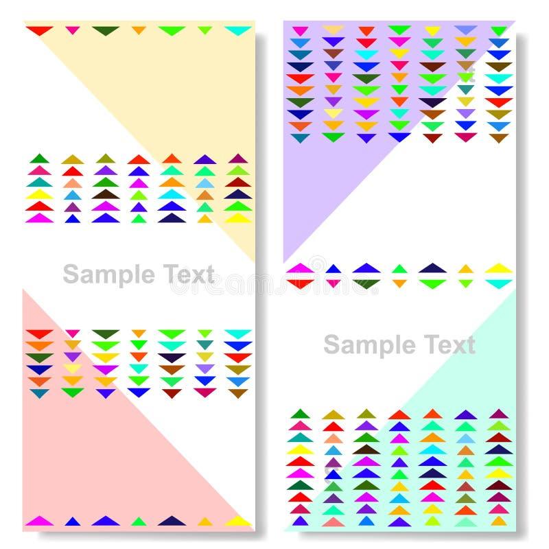Fondo colorido del triángulo libre illustration