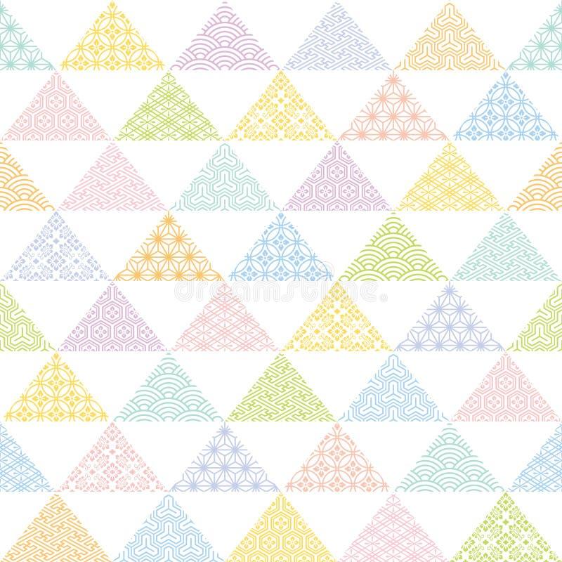 Fondo colorido del triángulo con diseño tradicional japonés libre illustration