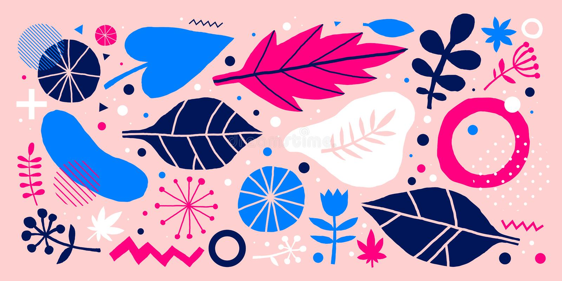 Fondo colorido del vector con los elementos florales dibujados mano Puede ser utilizado para hacer publicidad, el diseño web y lo libre illustration