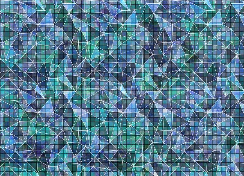 Fondo colorido dibujado extracto Papel pintado artístico en colores azules libre illustration