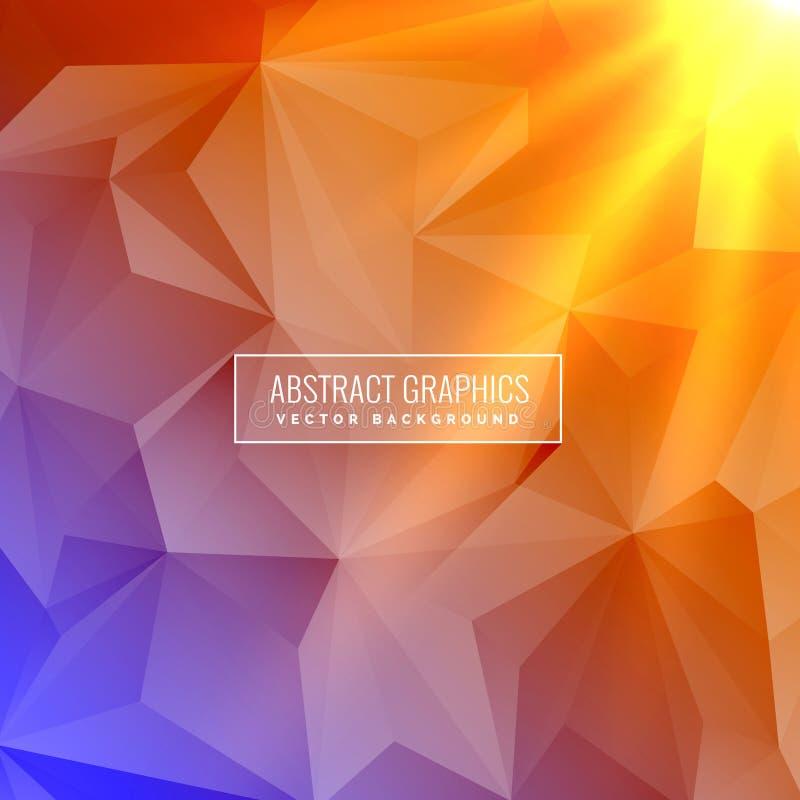 Fondo colorido elegante abstracto con efecto luminoso stock de ilustración