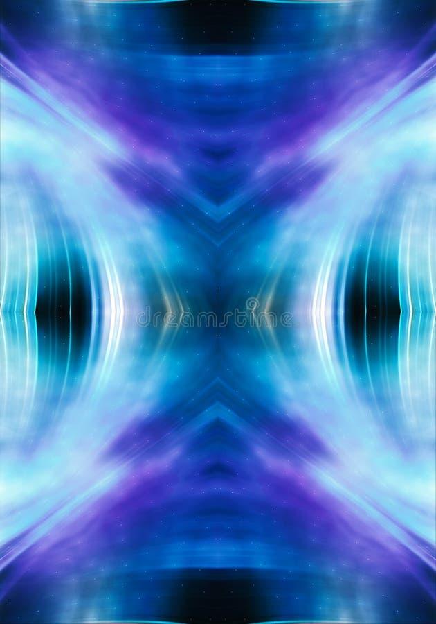 Fondo colorido enérgico puro generado por ordenador artístico abstracto del fractal 3d stock de ilustración