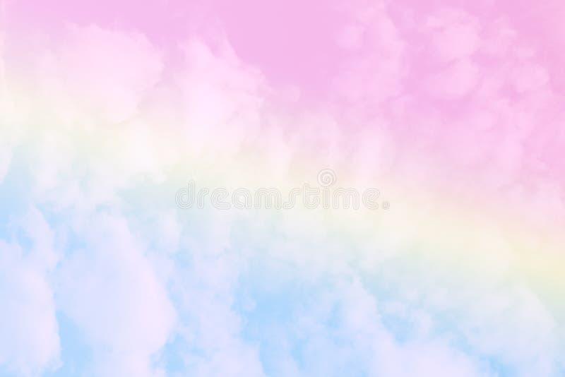 Fondo colorido en colores pastel de la nube del extracto suave del cielo foto de archivo libre de regalías