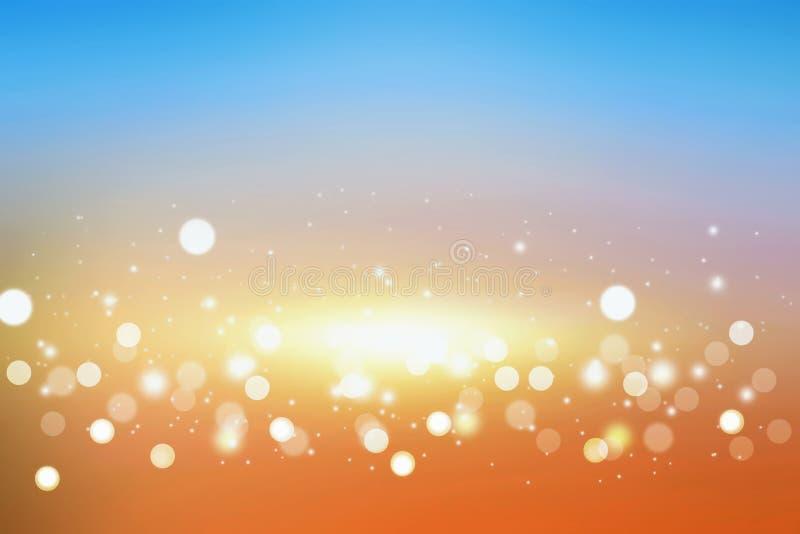 Fondo colorido festivo de la luz del bokeh stock de ilustración