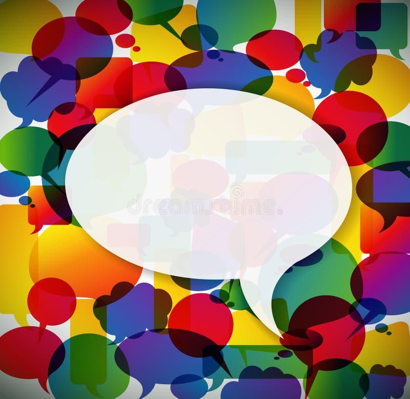 Fondo colorido hecho de burbujas del discurso libre illustration