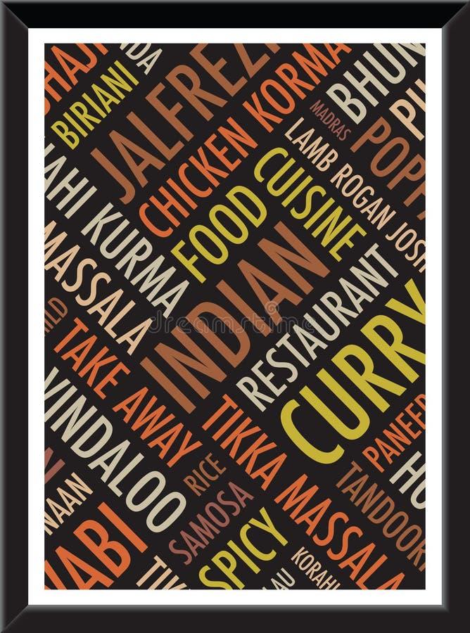 Fondo colorido indio a4 ilustración del vector