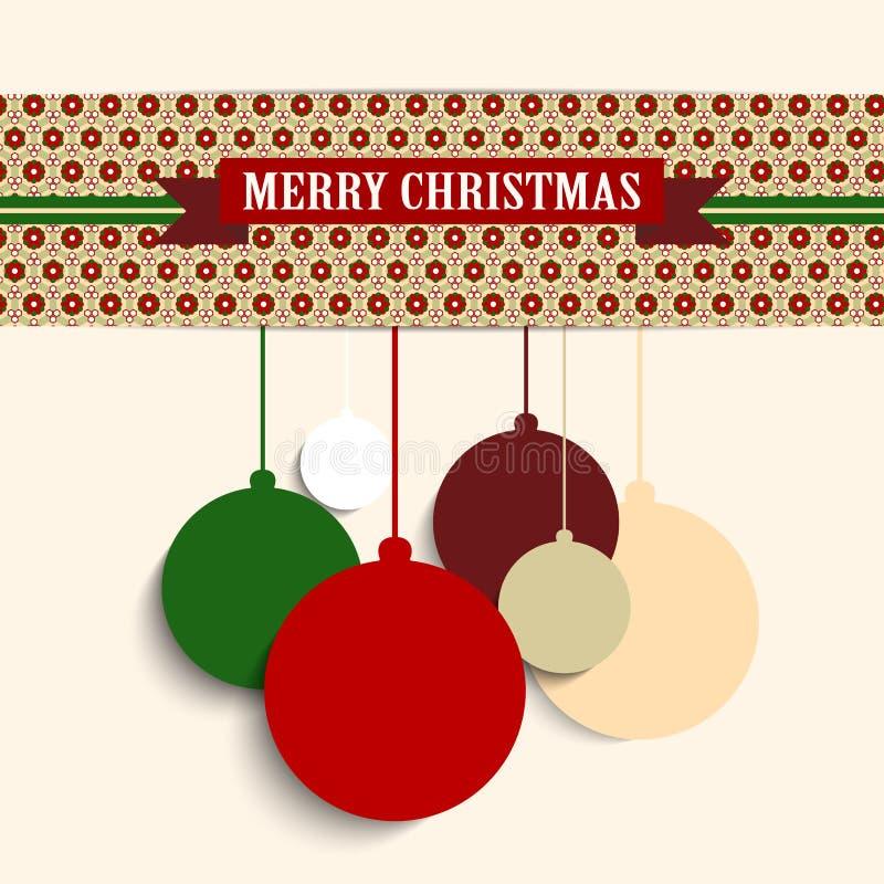 Fondo colorido retro del inconformista de la Feliz Navidad libre illustration
