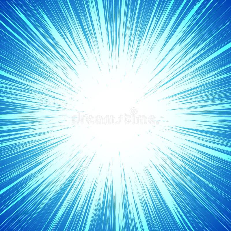 Fondo colorido vivo con el starburst y x28; sunburst& x29; - como adorno ilustración del vector