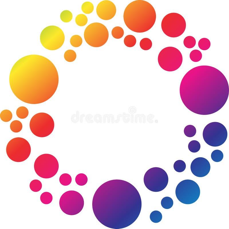 Fondo colourful del cerchio illustrazione di stock