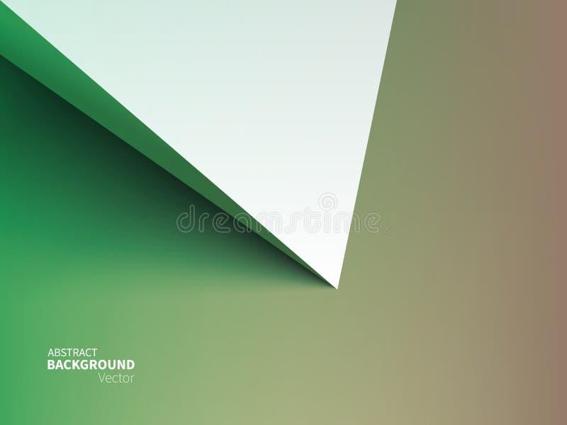 Fondo común del extracto del ejemplo del vector Estilo material del diseño Minimalismo, 3D, geometría, sombra Efecto de papel de  stock de ilustración
