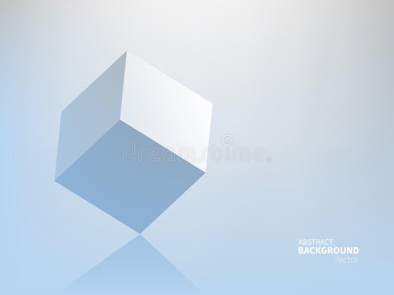 Fondo común del extracto del ejemplo del vector Estilo material del diseño Minimalismo, 3D, geometría, sombra Efecto de papel de  ilustración del vector
