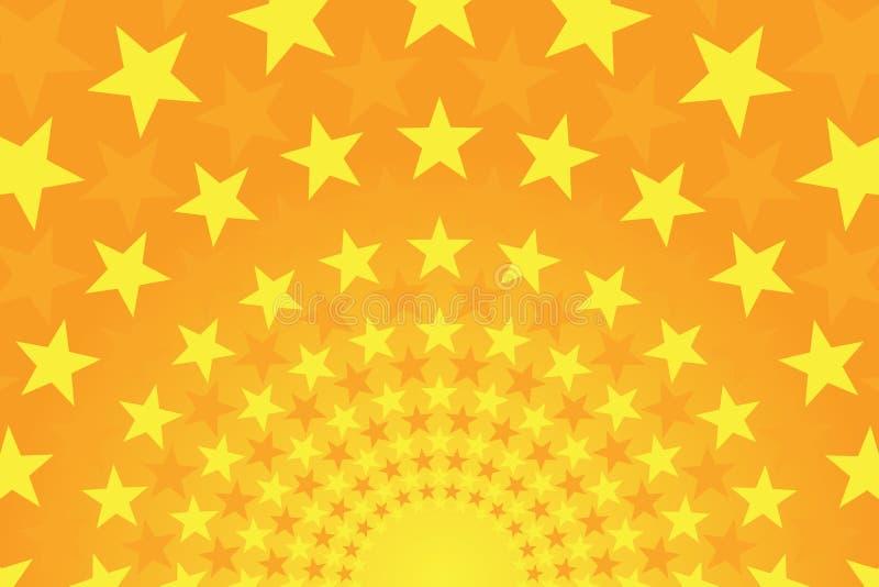 Fondo comico giallo ed arancio luminoso stellato immagine stock libera da diritti