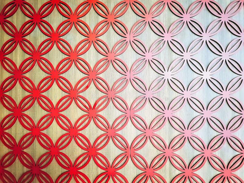 Fondo completo della struttura della decorazione della parete modellata cerchio rosso fotografia stock