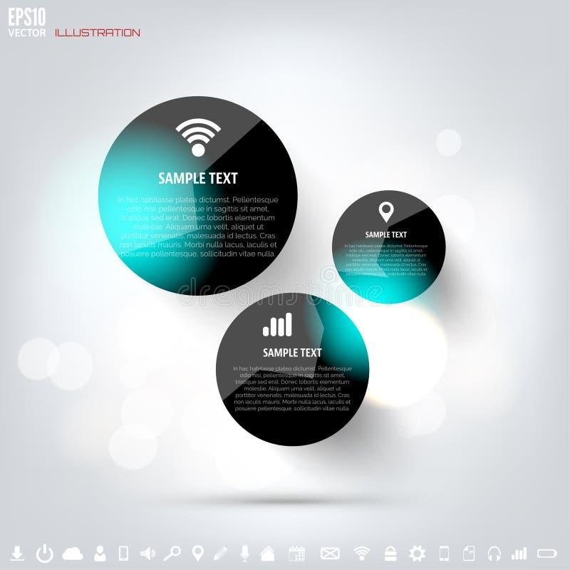 Fondo computacional de la nube negra con los iconos de la web Red social App móvil Elementos de Infographic libre illustration