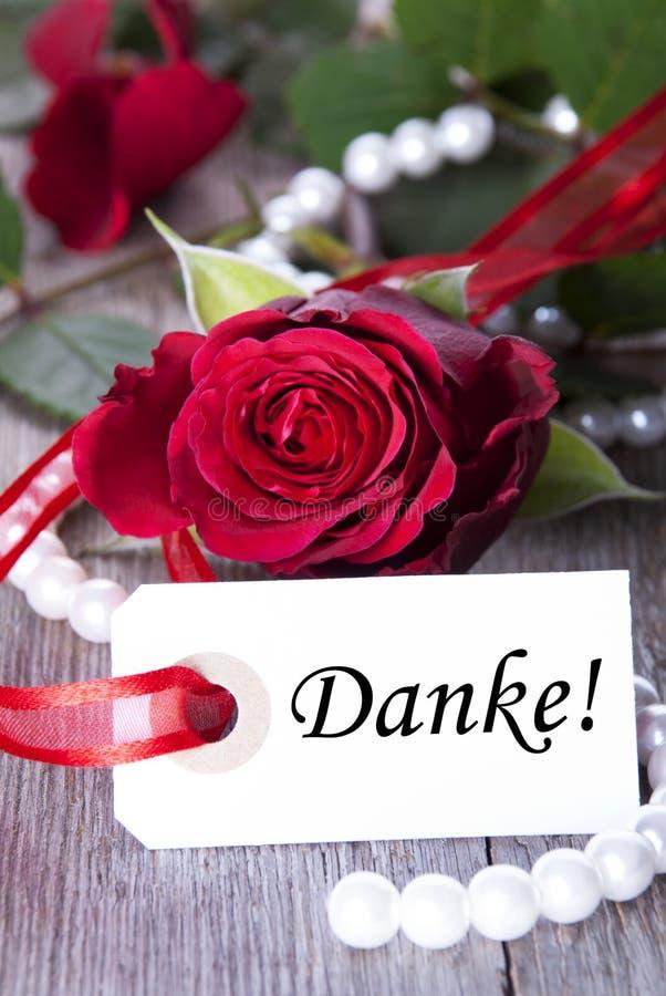 Fondo con Danke fotografía de archivo libre de regalías