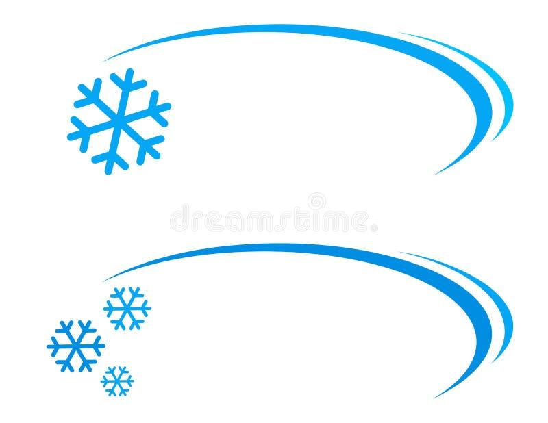 Fondo con el copo de nieve ilustración del vector