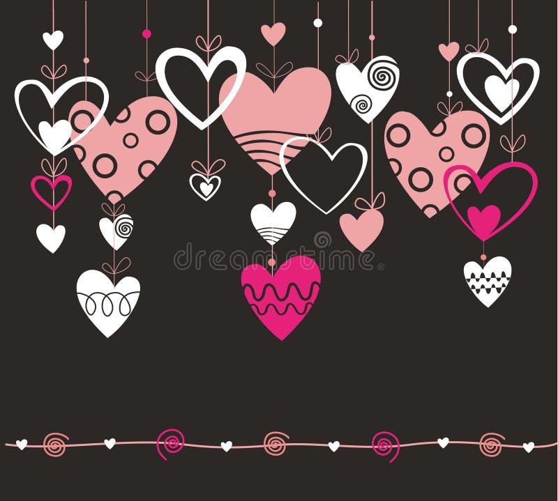 Fondo con el corazón stock de ilustración