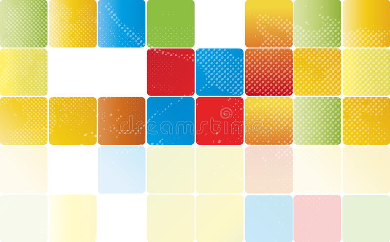 Fondo con el cubo del color stock de ilustración