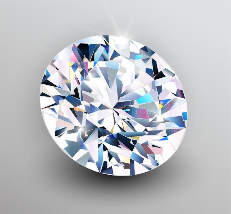 Fondo con el diamante stock de ilustración