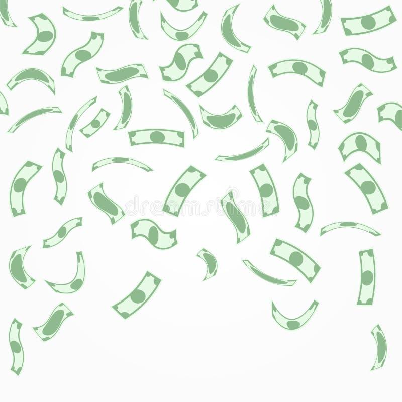 Fondo con el dinero que cae desde arriba ilustración del vector