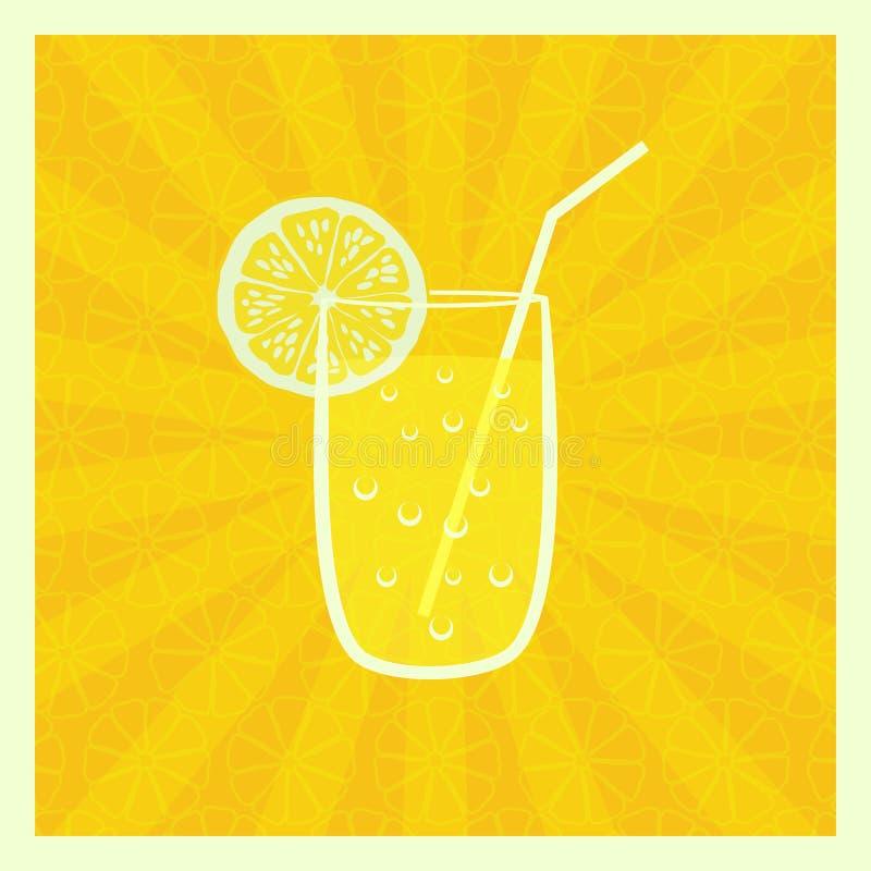 Fondo con el jugo en vidrio libre illustration