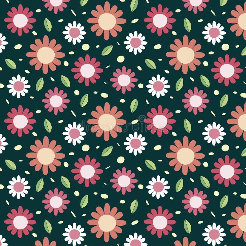 Fondo con el modelo de flores rosado libre illustration