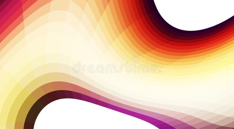 Fondo con el mosaico de la pendiente de la forma curvada y del color Vector ilustración del vector