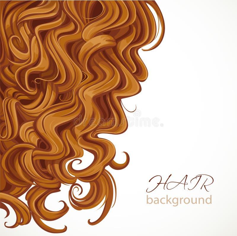 Fondo con el pelo marrón rizado libre illustration
