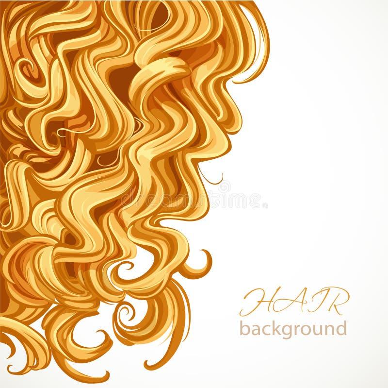 Fondo con el pelo rizado rubio ilustración del vector