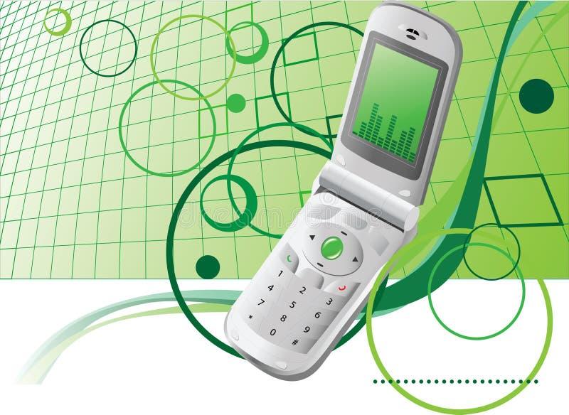 Fondo con el teléfono móvil   ilustración del vector