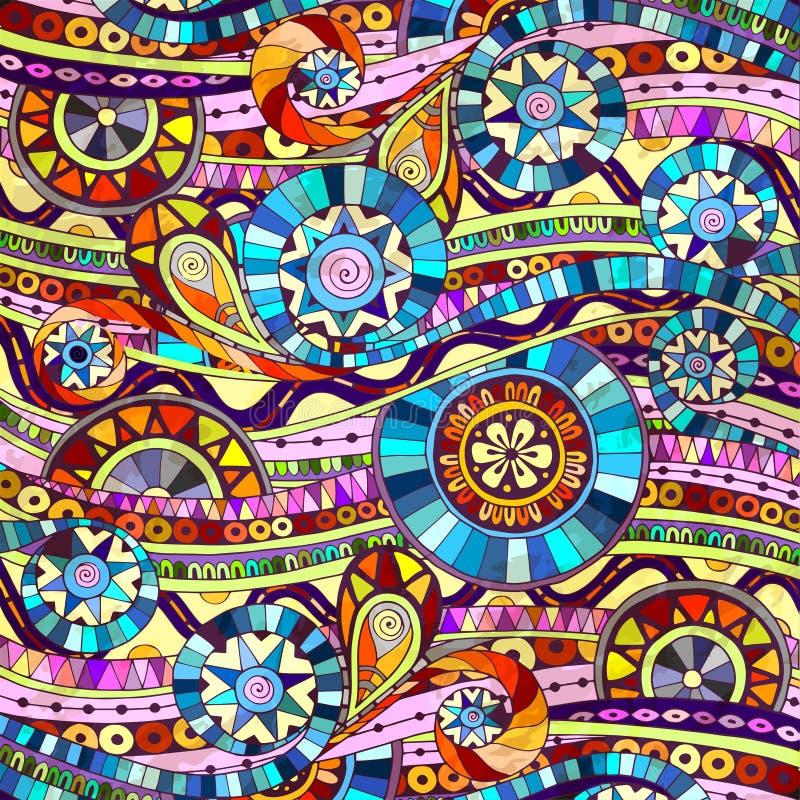 Fondo con gli elementi geometrici del mosaico royalty illustrazione gratis