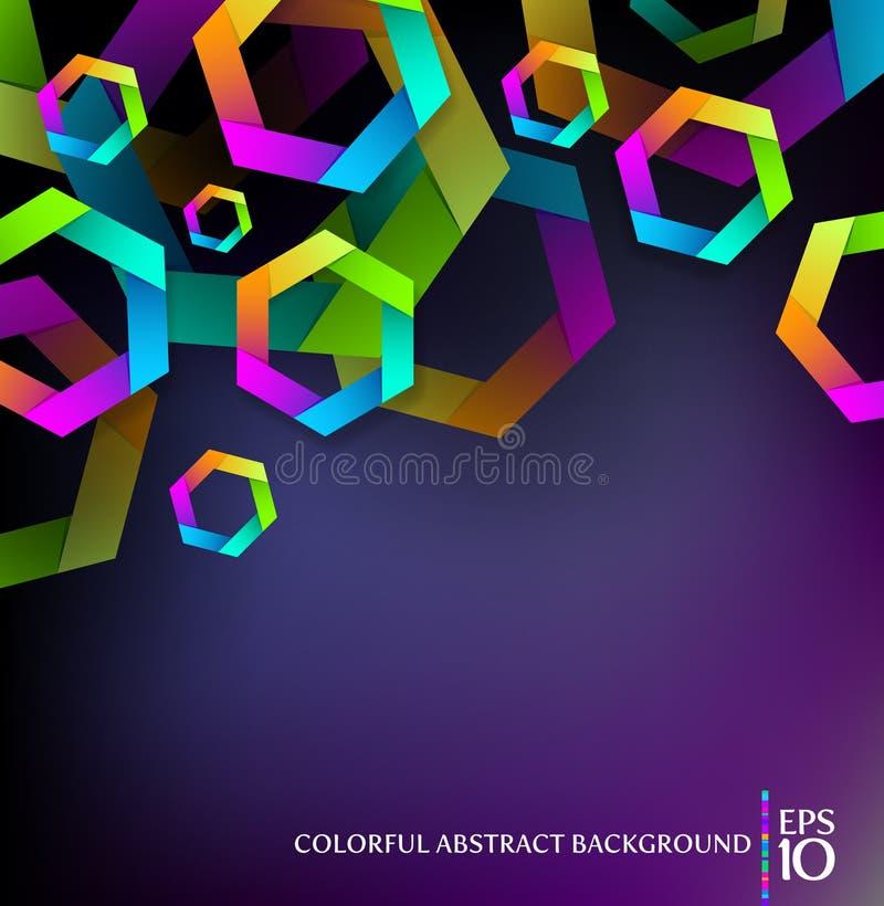Fondo con hexágonos coloridos ilustración del vector