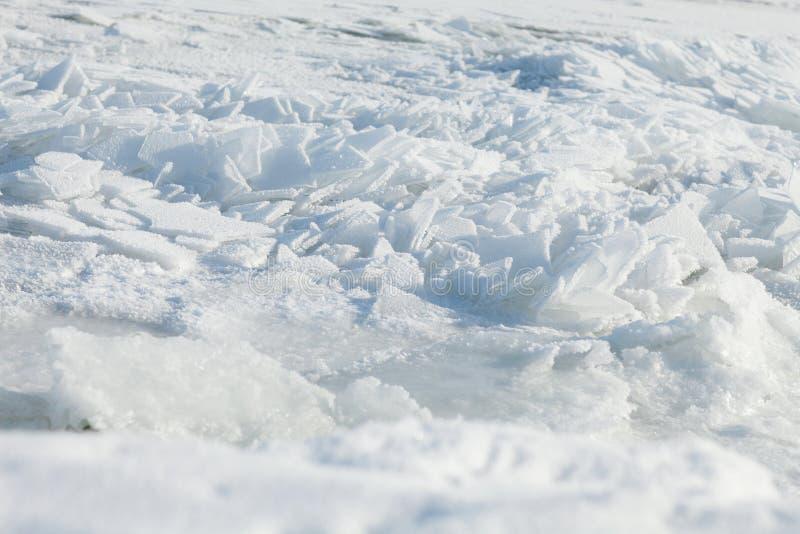 Fondo con hielo roto imagen de archivo