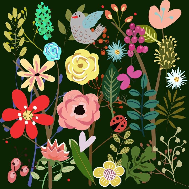 Fondo con i fiori royalty illustrazione gratis