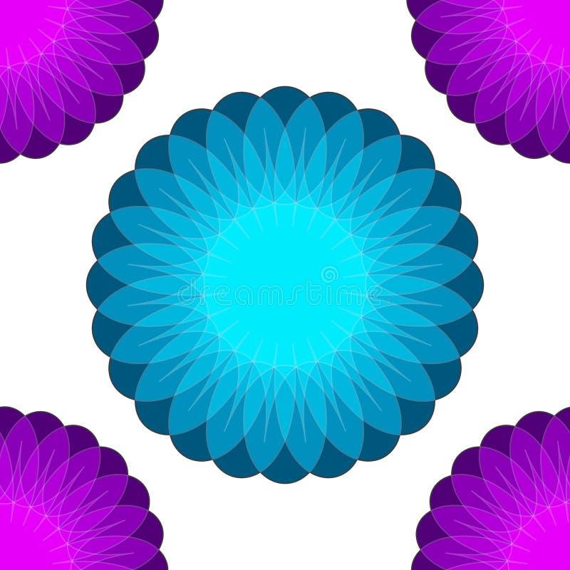 Fondo con i fiori trama 6 illustrazione di stock